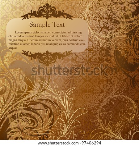 Luxury grunge golden background - stock vector