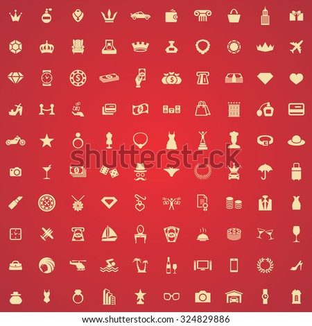 luxury 100 icons universal set for web and mobile