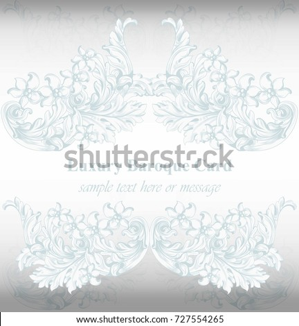 Luxury invitation card vector royal victorian stock vector 727554265 luxury invitation card vector royal victorian pattern ornament rich rococo background stopboris Image collections