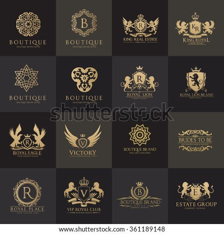 Luxury Logo Set Best Selected Collectionanimal 스톡 벡터 ... - photo#12