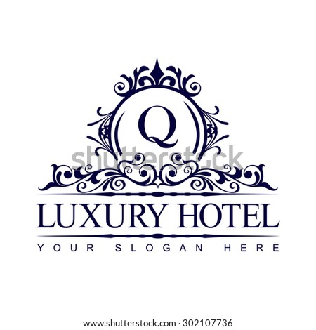 Boutique hotel stock vectors vector clip art shutterstock for Boutique hotel logo