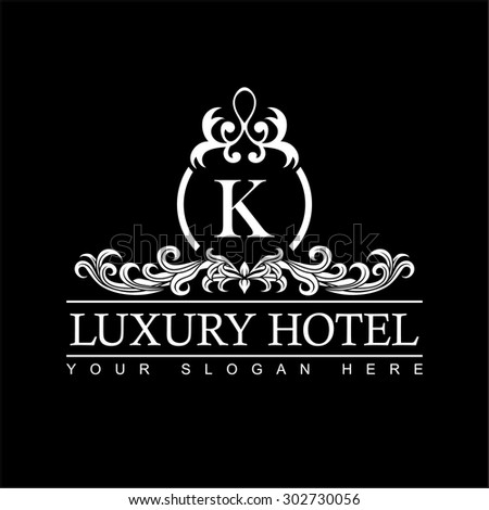 Vector logotype golden bee queen logo stock vector for Luxury hotel logo