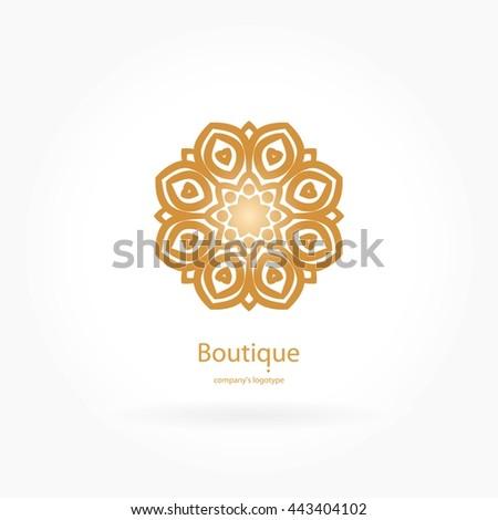Blue And White Kaleidoscope Emblem  Letters