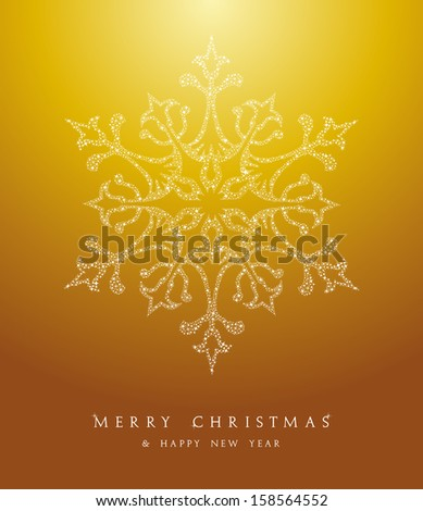 Luxury Merry Christmas snowflakes, season elements and stars background. EPS10 vector file organized in layers for easy editing. - stock vector
