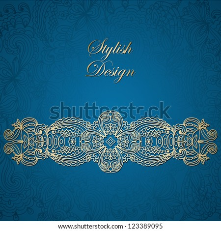 Luxury monochrome card with Floral design elements, seamless background, Lace design