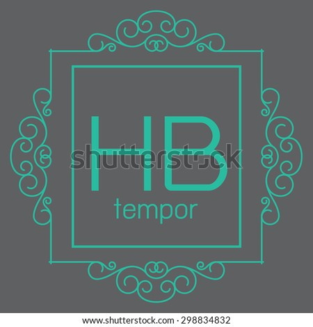 luxury monogram design template,elegant line art,business sign,boutique logo , premium insignia,vector illustration - stock vector