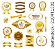 Luxury premium quality best choice labels isolated vector illustration  - stock vector