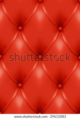 Luxury red leather. Can be easily used for seamless pattern creation (contains only two unique elements!). - stock vector