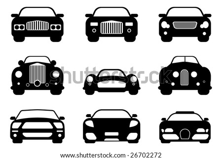 Luxury, retro, and sport car collection. Easy editable - stock vector
