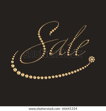 Luxury sale label - stock vector