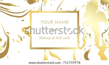 Luxury set makeup artist hair stylist stock photo photo vector luxury set makeup artist and hair stylist business cards vector template banner and cover with colourmoves