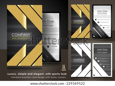 Luxury, simple and elegant, with sporty look business card - stock vector