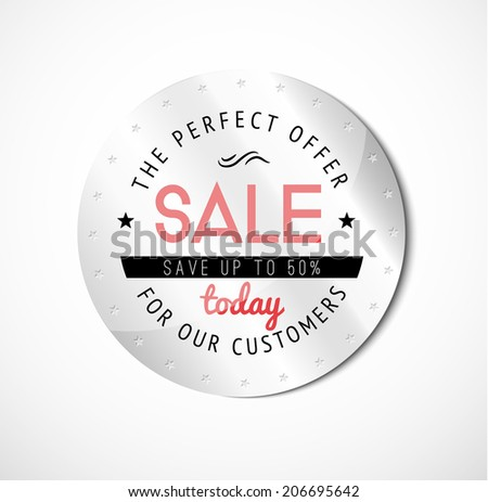 Luxury vector sale label. Vector illustration - stock vector