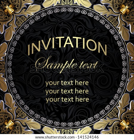 Luxury vintage frame with place for your text - stock vector