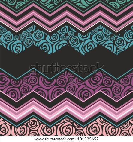 luxury wave - stock vector