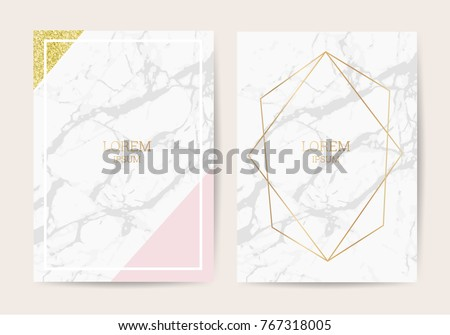 Luxury wedding invitation cards marble texture stock vector royalty luxury wedding invitation cards with marble texture and golden geometric line vector illustration stopboris Image collections