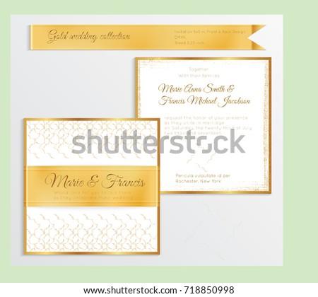 square wedding invitation template