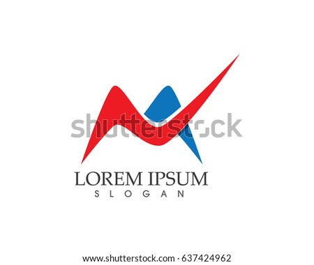 M business name logo stock vector hd royalty free 637424962 m business name logo thecheapjerseys Images