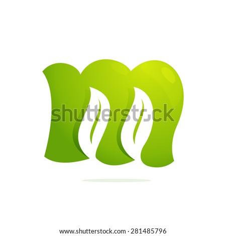 Green Letter m Logo m Letter Eco Logo