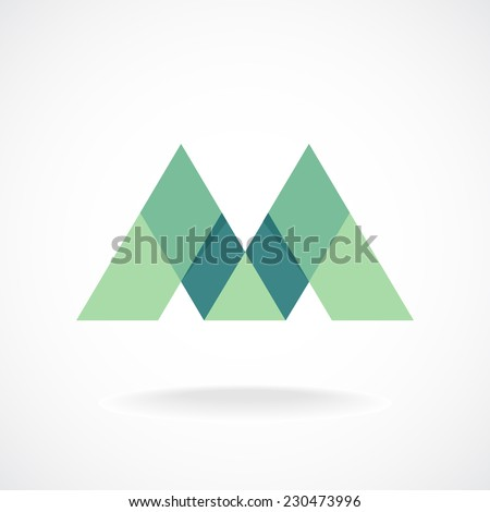Green Letter m Logo m Letter Logo Template