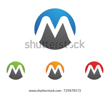 M Letter Logo Template vector illustration design