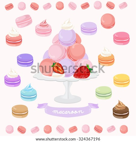 Macaroon Vector Design Illustration - stock vector