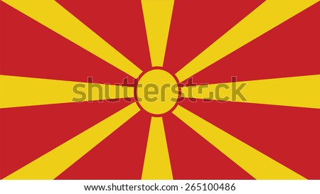 macedonia  Flag for Independence Day and infographic Vector illustration. - stock vector