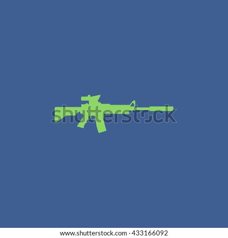 machine gun icon. concept illustration for design. - stock vector