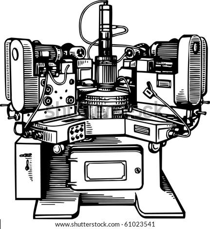 Machine tool - stock vector