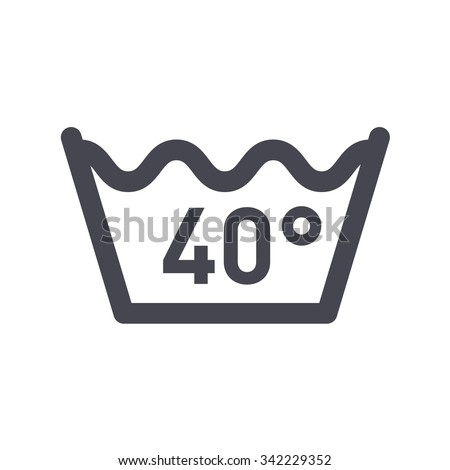 Machine Wash Winter Temperature Not Higher Stock Vector 342229352