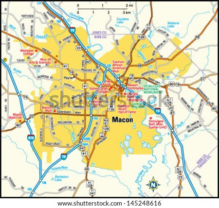 Macon Georgia Stock Images RoyaltyFree Images Vectors - Georgia map macon