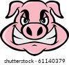 mad pig - stock vector