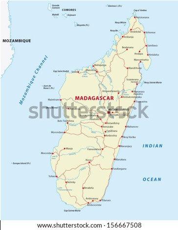 Madagascar road map stock vector 156667508 shutterstock madagascar road map publicscrutiny Choice Image