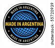 Made in Argentina label, vector illustration - stock photo