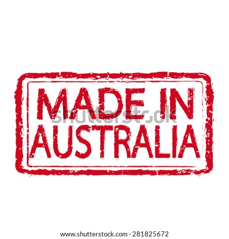 Made in AUSTRALIA stamp text Illustration - stock vector