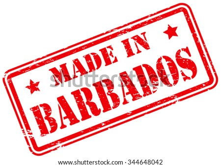 Made in Barbados Rubber Stamp