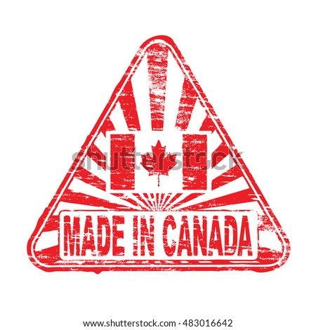 Made in Canada. Rubber stamp vector illustration