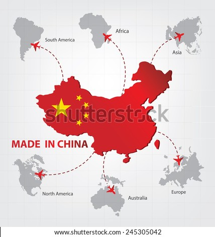 Made china business concept stock vector 245305042 shutterstock made in china business concept gumiabroncs Images