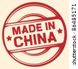 made in china stamp (vector stamp) - stock photo