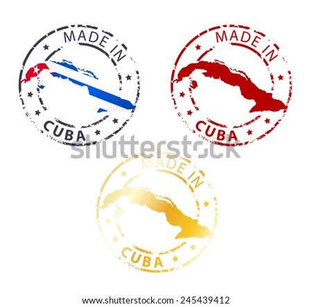 made in Cuba stamp - stock vector
