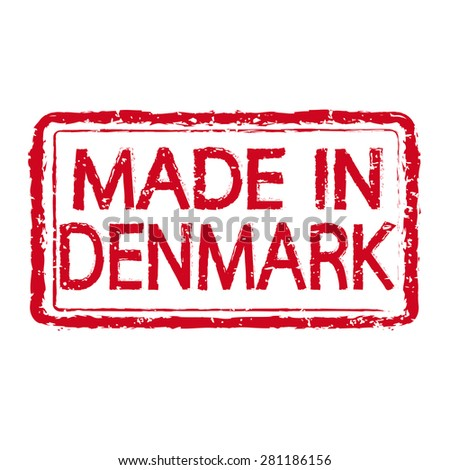 Made in DENMARK stamp text Illustration - stock vector