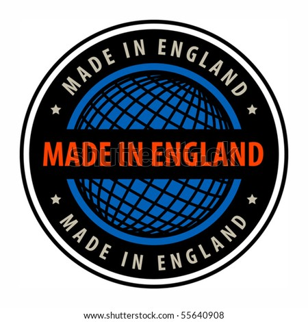 Made in England label, vector illustration - stock vector