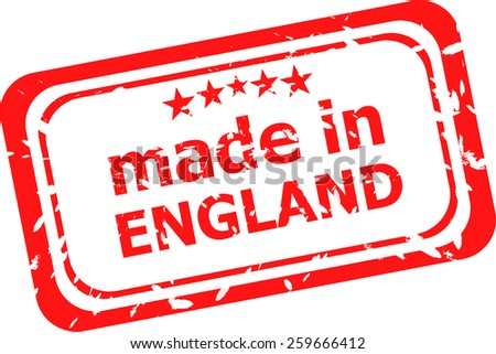 Made in england vector red rubber stamp - stock vector