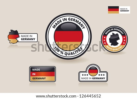 Made in Germany - Collection of Labels, Badges and Stickers - stock vector