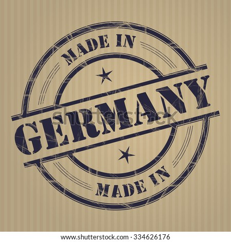 Made in Germany grunge rubber stamp - stock vector