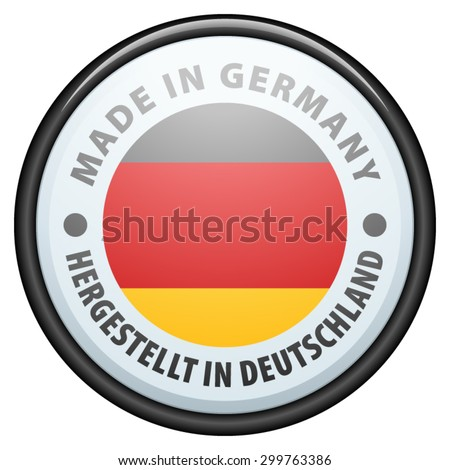 Made in Germany (non-English text - Made in Germany) - stock vector