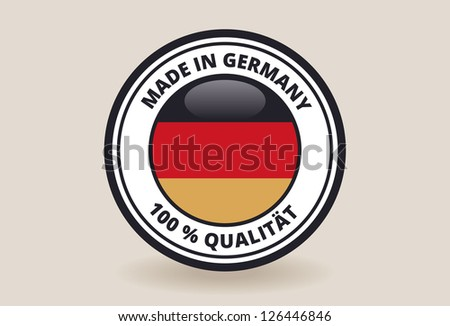 Made in Germany Quality Label - stock vector