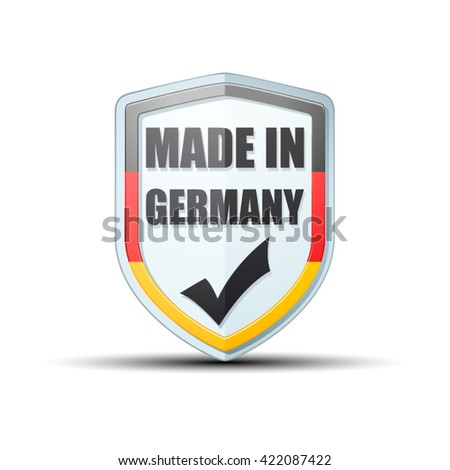 Made in Germany shield sign - stock vector