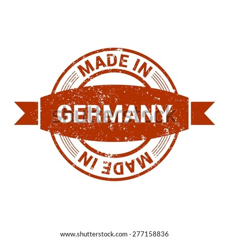 Made in Germany vintage stamp - stock vector