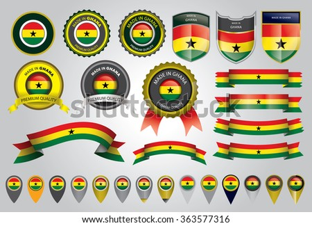 Made in Ghana Seal, Ghanaian Flag (Vector Art)